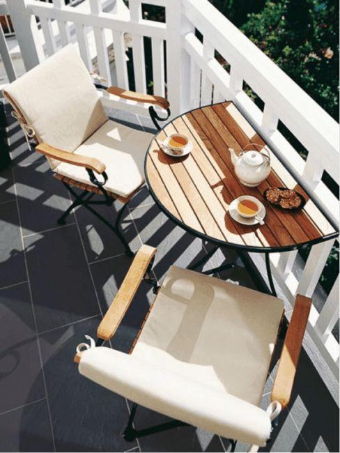 muebles terraza pequeña
